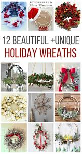 12 Unique Holiday Wreath Ideas  Twelve On Main