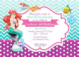 little mermaid birthday invitations badbrya com