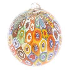 tree ornaments murano glass ornament gold
