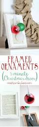 simple framed ornaments 5 minute christmas decor creations by kara
