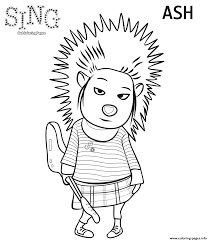 Mickey Halloween Coloring Pages by Porcupine From Sing 2016 Coloring Pages Printable