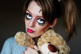 Creepy Doll Costume Scary Doll Halloween Make Up A Tutorial U2013 Zoe Newlove