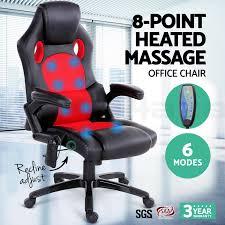 Race Car Office Chair 8 Point Massage Office Chair Racing Executive Heat Recliner