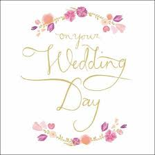 card for on wedding day on your wedding day card karenza paperie