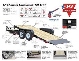 2018 pj trailers t6 20 u0027 gravity tilt trailer in osceola ia