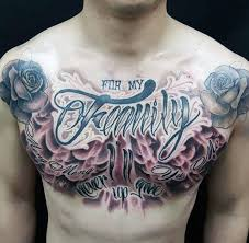 28 family chest tattoos for family is forever chest