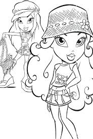 Bratz Coloring Pages Coloring Pages For Girls Fashion Bratz Bratz Coloring Pages