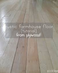 Laminate Floor Planks Farmhouse Wide Plank Floor Made From Plywood Diy Picklee