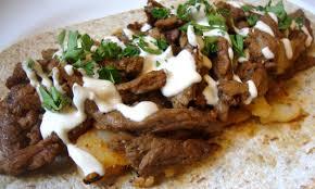levantine shawarma vegan style with tahini sauce the gentle chef
