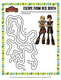 escape from red death u2013 printable maze worksheet