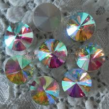 wholesale rhinestones hotfix rhinestones crystals hot fix silver base sew on fancy glass crystal stone rivoli wholesale