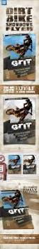 motocross bike hire dirt bike showdown flyer by indworks graphicriver