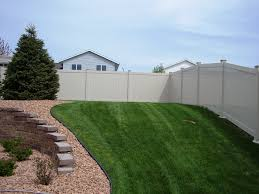 outdoor decorative fence privacy installation products in backyard