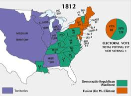 map of the us states in 1865 1812 in the united states