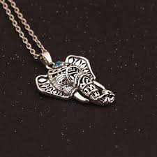 antique silver necklace pendant images Boho antique necklaces pendants ethnic turquoise elephant choker jpg