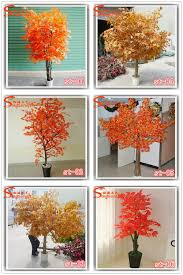 Ornamental Maple Tree Artificial Maple Tree Size Plastic Artificial Plants And