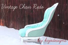How To Reupholster A Side Chair Aqua Chair Redo Tutorial How To Reupholster A Tufted Chair