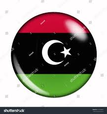 Flag Of Libya Circular Buttonised Flag Libya Stock Illustration 110180093