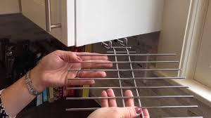 wine glass drying rack installation youtube