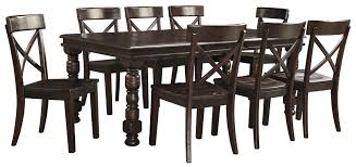 signature design by ashley gerlane 9 piece solid pine dining table