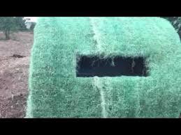 How To Make A Hay Bail Blind Diy Redneck Hay Bale Blind Youtube