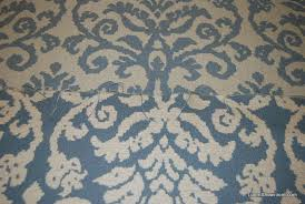 Blue Damask Upholstery Fabric Wb26 Heavy Tapestry Woven Italy Wedgwood Blue White Floral Pattern