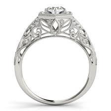 filigree engagement ring 34ctw halo filigree hexagon diamond engagement ring setting