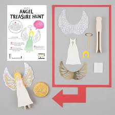 make your own angel peg doll kit by cotton twist