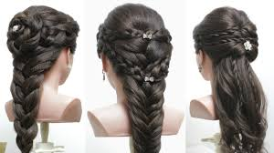 3 easy hairstyles for long hair tutorial cute braids youtube
