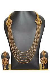 gold necklace sets designs images Partywear antique designer gold necklace set for women 39 s at jpg