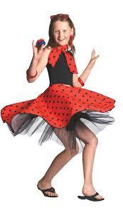 Rock Roll Halloween Costumes Rock Roll Skirt Childs Fancy Dress 1950s Polka Dot 50s Girls
