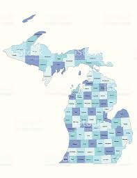 Map Of Michigan by Michigan State County Map Stock Vector Art 165040553 Istock