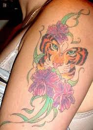 butterfly with tiger tats that are cool
