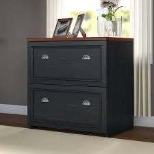 bush fairview collection l shaped desk bush furniture fairview lateral file cabinet in antique black
