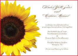 sunflower wedding invitations inspirational sunflower wedding invitations templates collection