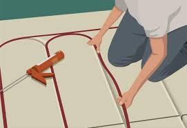 floor radiant floor heaters on floor inside how to install radiant