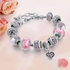 bangle charm bracelet diy images Crystal and flower bead charm bracelet friendship bangle various jpg