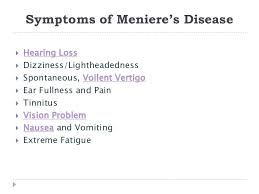 light headed and ears ringing meniere s disease