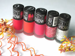 5 maybelline color show bright matte and party nail polishes