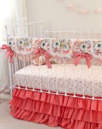 Custom Girls Bedding by Blush Pink And Coral Crib Bedding Pink Gold Nursery