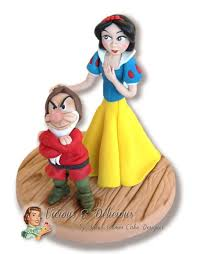 Snow White U0026 Grumpy Cake Topper Cake By Vicious U0026 Delicious By