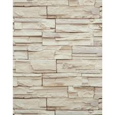 stone wallpaper stacked brick tan beige heavy duty textured