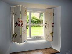 Wooden Window Shutters Interior Diy Interior Window Shutters With Fabric Inserts Blinds Interior