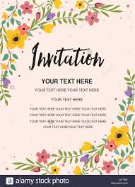 Invitation Card Samples Anniversary Party Invitation Card Template Colorful Floral Stock