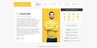 Resume Sample Html by Resumify One Page Resume Template Html Css Themes Creative