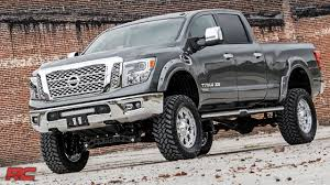 custom lifted nissan armada 2016 2017 nissan titan xd 6 inch suspension lift kit by rough