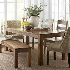 parsons wood dining table parsons 76 java dining table table seating wood table and bench