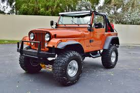 orange jeep wrangler 1979 jeep cj 7 sport wrangler 4 4 lifted custom suv real muscle