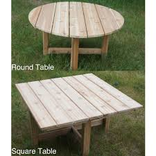 phat tommy western red cedar folding outdoor patio table free