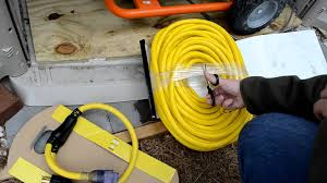 100ft 10 4 awg generator cord voltage drop test youtube